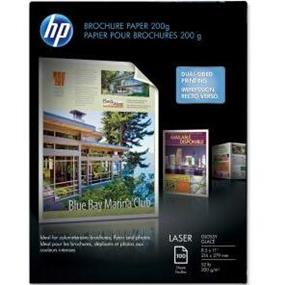"HP Brochure/Flyer Paper - Letter - 8.5"" (215.9 mm) x 11"" (279.4 mm) - 52 lb Basis Weight - Glossy, Smooth - 97 Brightness - 100 / Pack"