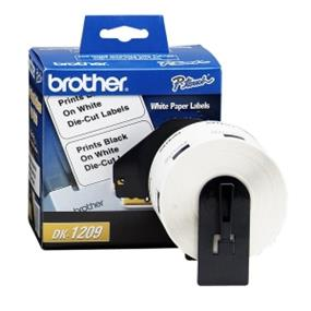 "Brother DK1209 Address Label - 1 9/64"" Width x 2 27/64"" Length - 800 / Roll - Rectangle - Direct Thermal - White - 800 / Roll 29MMX62MM/1-1/7INX2-3/7IN"
