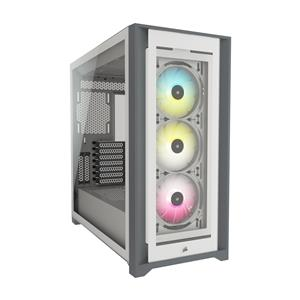 CORSAIR iCUE 5000X RGB Tempered Glass Mid-Tower ATX PC Smart Case, White