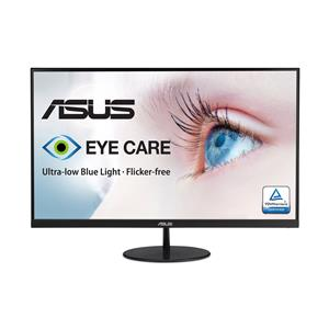 """ASUS VL279HE 27"""" Eye Care Monitor, 1080P Full HD (1920 x 1080), IPS, 75Hz, Adaptive-Sync, FreeSync™, HDMI D-Sub, Frameless, Slim, Wall Mountable, Flicker Free and Blue Light Filter"""