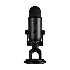 "BLUE Yeti Microphone (Blackout) | 16-Bit/48 kHz Resolution | 4 Selectable Polar Patterns | 1/8"" Headphone Monitoring Jack"