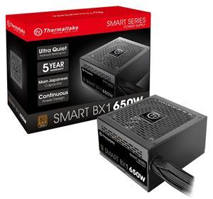 Thermaltake Smart BX1 650W Bronze SLI/ CrossFire Ready Continuous Power ATX12V v2.3 / EPS v2.92 80 PLUS Bronze Certified 5 Year Warranty Non Modular Power Supply PS-SPD-0650NNFABU-1