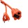 iCAN Heavy Duty Extension Power Cord - 125V 13A Child Safety Cover Orange - 20 ft. (KT-B)