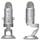 "Blue Yeti Microphone (Silver) | 16-Bit/48 kHz Resolution | 4 Selectable Polar Patterns | 1/8"" Headphone Monitoring Jack"