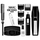 Wahl 5537-1801 Wireless Men's Beard & Ear/Nose Trimmer - Black (5537-1801) | Self Sharpening Blades , 5-Position Guide