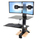 Ergotron Workfit-S Sit-Stand Workstation for Dual Displays with Worksurface and Large Keyboard Tray (33-349-200)