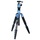 FotoPro X4iE - Professional Tripod With Head (Open Box/Blue) | Quick Operation Center Column | Hidden Hook | Three Angles (High/Mid/Low) | Reversable 180 Degree | T-Lock