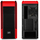 Deepcool Pangu SW-RD Black with Red Highlights Window Mid Tower Case | LED Strips