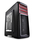 Deepcool Kendomen RD Black with Red Highlights Window Mid Tower Case | 2 Red LED Fans, 3 Black Fans