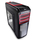 Deepcool Kendomen RD Black with Red Highlights Window Mid Tower Case   2 Red LED Fans, 3 Black Fans