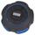 iHome Portable Waterproof Bluetooth Speakerwith Speakerphone (IBT82BLC) - Black/Blue