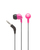 Wicked Audio Brawl Headphones (Pink Punch) | 45-Degree Smart Plug | Stays anchored | 3 sizes of cushions
