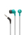 Wicked Audio Brawl Headphones (Real Teal) | 45-Degree Smart Plug | Stays anchored | 3 sizes of cushions