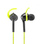 Wicked Audio Fang Anchor Fit Earbud (Black/Lime) | Anchor Fit | Built-in Mic, Hands Free & Track Contro l Gold-plated 45° Smart Plug