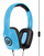 Wicked Audio Sentinel Heappphones with Mic (Blue) | Wide Range | High Fidelity | Light Weight