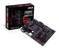 ASUS  PRIME B350-PLUS Socket AM4 AMD B350 Chipset | Dual Channel DDR4 3200(O.C.), PCI-E 3.0, GLAN, SATA 6.0Gb/s, M.2 | USB 3.1, HDMI, DVI-D, ATX Motherboard