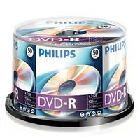 Philips DVD-R 16X (Premium) 4.7GB Silver Logo Spindle 50 Packs (DM4S6B50F/17)
