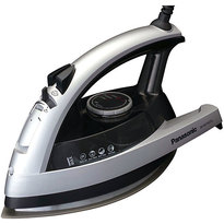 Panasonic NIW750TS 360 Degree Quick Multi-Directional Iron with Curved Titanium Soleplate - Silver  | Anti-Calcium System , Vertical Steam , Anti-Drip , Auto Shut Off