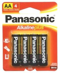 Panasonic Alkaline Plus AA-4 Batteries