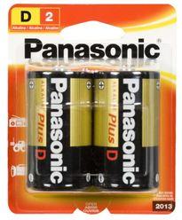 Panasonic Alkaline Plus Battery D-2