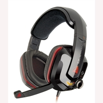 Azio Levetron GH808 - USB Gaming Headset | Foldable Mic  | Adjustable Headband | Volume Control Knob | Enhanced Bass