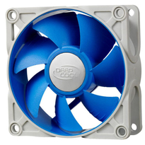 Deepcool DC Fan UF 80 Patented De-vibration fan the rubber fan frame PWM Long life-time two-ball bearing 900�150~2200�10%RPM