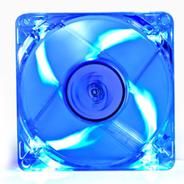 Deepcool DC Fan Xfan 80L/B UV Blue LED Transparent fan frame 80mm 1800�10%RPM