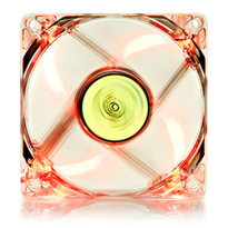 Deepcool DC Fan Xfan 80L/R UV Red LED Transparent fan frame 80mm 1800�10%RPM