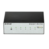 D-Link Gigabit GO-SW-5GE 5-Port Metal Desktop Switch