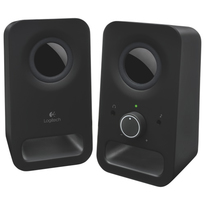 Logitech Z150  -- 2.0 Stereo Speaker System - Midnight Black  |3 watts RMS |Powered by AC outlet
