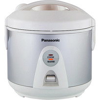Panasonic SRTEG10 1.0 Litre 5 Cup One Step Automatic Rice Cooker with Steaming Feature - Silver  | 450W , Auto Rewind Power Cord , Keep Warm