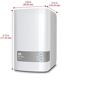 WD 4TB My Cloud Mirror Personal Network Attached Storage - NAS - WDBZVM0040JWT-NESN