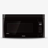 Panasonic NNSE284B 2.0 cu. ft. Genius Prestige Plus Inverter 420 CFM Over-the-Range OTR Microwave Oven - Black  | 1100W, Super Quiet , Glass Touch Keypad