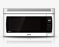 Panasonic NNSE284W 2.0 cu. ft. Genius Prestige Plus Inverter 420 CFM Over-the-Range OTR Microwave Oven - White  | 1100W, Super Quiet , Glass Touch Keypad