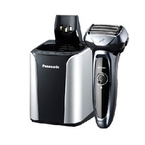 Panasonic ESLV95 5-Blade Multi-Fit Arc Blade Rechargeable Wet / Dry Men's Shaver with Automatic Cleaning and Charging System - Silver & Black  | 14,000 CPM , 30 Degree Nano-Edge Blades , fully charge in 1 hour , Automatic Universal Voltage