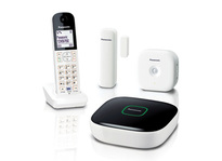 Panasonic KX-HN6000 Home Safety Starter Kit with one Hub, one Window/Door Sensor, one Motion Sensor and one Digital Cordless Handset