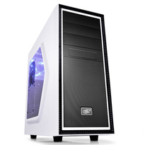 Deepcool Tesseract SW-WH White Window Mid Tower Case | 1 Blue LED Fan