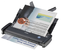 Canon imageFORMULA P-215II Mobile Document Scanner w/Built-in Reader | 24-bit color - 10 ppm & 20 ipm - 600 dpi | USB | Windows and Mac Compatible