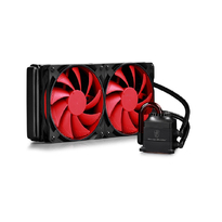 Deepcool Captain 240 Liquid CPU Cooler, Red Version | 120mm PWM Fan | Intel Socket LGA2011-V3/LGA2011/LGA1366/LGA1156/LGA1155/LGA1150 |  AMD FM2+/FM2/FM1/AM3+/AM3/AM2+/AM2