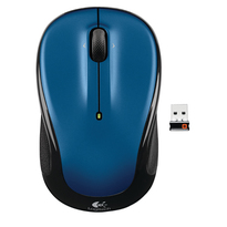 Logitech Wireless Mouse M325 Wireless Mouse 2.4GHz w/ Nano Logitech Unifying Receiver- New Blue