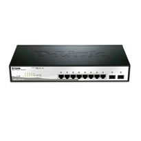 D-Link 8 Ports DGS-1210-10 Gigabit Smart Switch with 2 SFP ports |Business