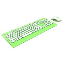 Azio HUE Lime Green Wireless Keyboard and Mouse