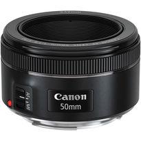 Canon EF 50mm f/1.8 STM Lens | Optimized Lens Coatings | STM AF Motor Supports Movie Servo AF | Manual Focus Override | Metal Lens Mount | Rounded 7-Blade Diaphragm | Minimum Focus Distance: 14