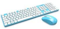 Azio HUE 2 Wireless Keyboard and Mouse Combo- Blue