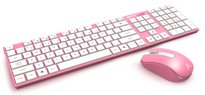 Azio HUE 2 Wireless Keyboard and Mouse Combo- Pink