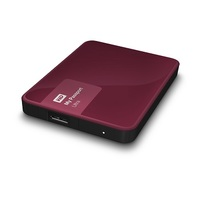 WD 4TB My Passport Ultra-Portable External Hard Drive Wild Berry- WDBBKD0040BBY-NESN