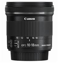 Canon EF-S 10-18mm f/4.5-5.6 IS STM Lens | 16-28.8mm  | One UD Element & One Aspherical Element | Four-Group Optical Zoom System | Full-Time Manual Focus Override | Optical Image Stabilizer