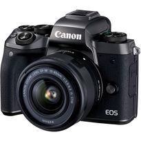 Canon EOS M5 Mirrorless Digital Camera with 15-45mm Lens | 24.2MP APS-C CMOS Sensor | DIGIC 7 Image Processor | 3.2
