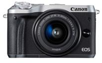 Canon EOS M6 Mirrorless Digital Camera with 15-45mm Lens  | 24.2 Megapixel CMOS  Sensor | DIGIC 7 Image Processor, ISO 100�25600 | Combination IS with 5-axis Image Stabilization* | High-speed Continuous Shooting at up to 7.0 fps  | Built-in Wi-Fi**, NFC*** and Bluetooth^ | Intuitive Touch Screen, 3.0-inch Tilt-type LCD
