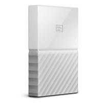 WD 2TB My Passport Portable Hard Drive with password protection and auto backup software White